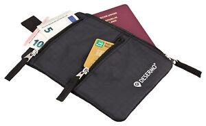 Reisegeldbeutel mit RFID Blocker, Versteck-Funktion als Brustbeutel Alternative