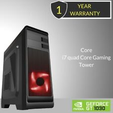 Windows 10 Core i7 Quad Core Gaming Tower PC - 8 GB DDR3 - 2000 GB HDD-HDMI -