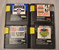 4 Sega Genesis Sports Video Game Cart Lots Madden 94 Tony La Russa Baseball NTSC