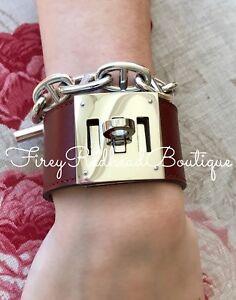 Hermès Kelly Dog Bracelet - Rouge H Box w/ palladium h/w