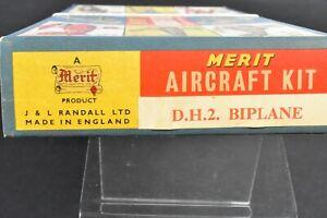 BNIB 1958 RANDALL LTD MERIT AIRCRAFT MODEL KIT 1:50 D.H.2. BIPLANE DE HAVILLAND