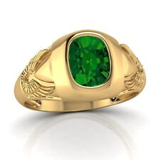 3.00 Ct Oval Cut Emerald 14K Yellow Gold Engagement Ring  8 9 10 11 12