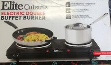 Elite Cuisine EDB-302BF Maxi-Matic Electric Double Buffet Burner Dual Temperatur