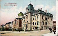 Switzerland La Chaux-de-Fonds Controle et Synagoge Antique Postcard E20