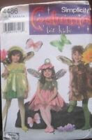 Simplicity Sewing Pattern 4486 Childs Toddler Fairy Costumes Size 3-8