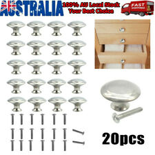 20pcs Stainless Steel Door Knob Cabinet Handles Cupboard Drawer Kitchen DIY