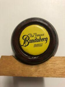 Collectable Solid Wood Bundaberg Rum Barrel Vintage Advertising Mancave Barware