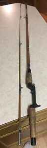"Vtg St Croix 6'6"" Fishing Rod 2 Pce Tournament Fifteen Hundred 63-265 Pistol Gri"