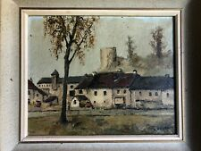 1950s French Framed Oil On Canvas Signed L PEYRAT (Louis)