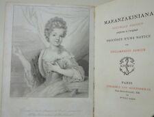 Maranzakiniana notice de Philomneste Jr [Brunet] RARE 1/50 ex NUM Jouaust 1875