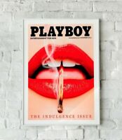 Sexy Playboy Print, Playboy Cover Art Print, Lips Art Print, Wall Art