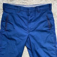 Woolrich Vintage 70s Size 33 1932 Blue Knickers Vintage Cotton Blend Cropped