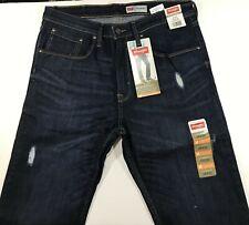 Wrangler Slim Straight Flex For Comfort Stretch Jeans For Men's 38x30 Blue NWT