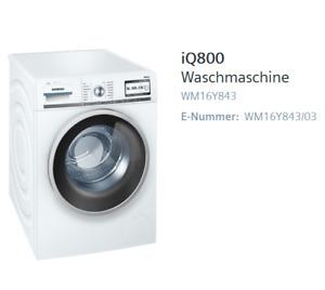 TOP Siemens iQ800 Waschmaschine WM16Y843 iSensoric A+++ 1600 UpM 8 kg i-Dos TOP