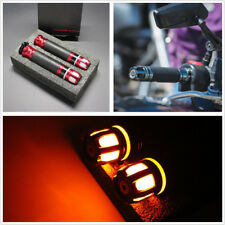 Billet Aluminum&PVC 7/8'' 22mm Motorcycle ATV LED Steering Light Handlebar Grips