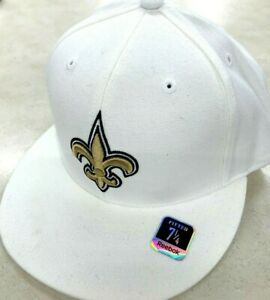 NEW ORLEANS SAINTS NFL REEBOK ON FIELD SIDELINE FITTED HAT WHITE $35