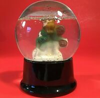 ATLAS CRYSTAL WORKS SNOW GLOBE VINTAGE 1940'S CHILDREN BLACK BASE MCM