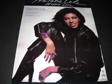 Natalie Cole comfortable in black leather 1981 Promo Poster Ad Happy Love mint