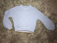Ted Baker Blue Wool Luisa Crewneck Long Sleeve Sweater Size 2 (US  4-6) NWT