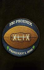 FBI Phoenix, AZ NFL Super Bowl (XLIX) commemorative  Police Patch (Authentic)!