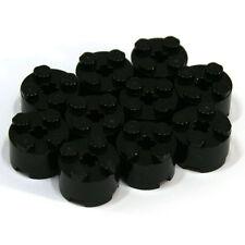 Lego Black 1x2x2 Round Cylinder Brick - 10 Parts - 6143 614326 - NEW