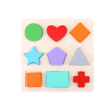 Wooden Shapes Figures Puzzle Educational Learning Color Toy for Toddlers 3+ Year