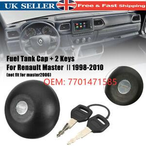 Fuel Petrol Diesel Cap & Two Keys For RENAULT MASTER MKII Megane MK1 7701471585