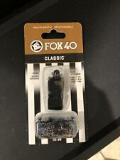 115 Db Fox 40 Classic Official Pealess Whistle Sifflet Sans Bille & Lanyard