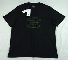 Lacoste 1933 Black Pima Cotton Basic T-Shirt Size M TH1158 BNWT 100% Authentic