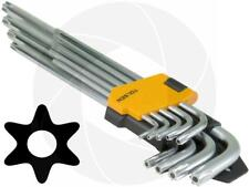 9pcs Extra Long Arm Torx Hex Key Set Star with Shaft Pin Slot Wrenches T10-T50