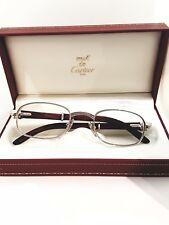 Cartier Camarat Breteuil Rosewood Platinum Authentic Vintage Sunglasses