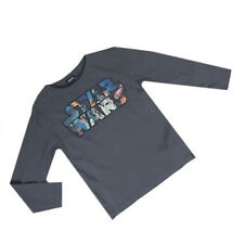 Official Licensed Disney Star Wars Boys Grey Long Sleeve Top / T-shirt