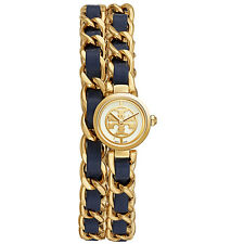 BRAD NEW TORY BURCH TRB4103 REVA DOUBLE WRAP NAVY BRAIDED LEATHER WOMEN S  WATCH 7b8e7662c40d