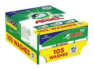 Ariel 3 In 1 Liquitabs 3X 35 Pack Clothes Wash 105 Capsules Cleaning Pods NEW