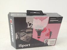 Monster iSport Intensity Sport Audio In Ear Headphones Pink New In Package Seal