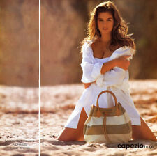 1990 Capezio Bags sexy Cindy Crawford at the beach MAGAZINE AD