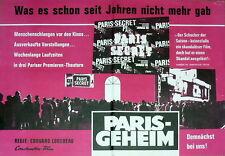 """1 Original Filmplakat A3, """"Paris Geheim"""", Vorankündigung"""