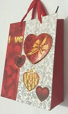PAPER VALENTINES 3D Love HEART CHRISTMAS BIRTHDAY PARTY LOOT Gift BAG