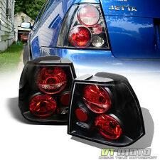 Black 1999-2005 VW Jetta MK4 Rear Tail Lights Lamps Left+Right Aftermarket 99-05