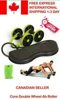 Indoor Abdominal Trainers Exercise Equipment Professional Double Ab Roller Wheel