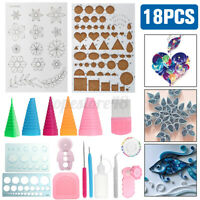 18pcs Quilling Paper Kit Cork DIY Craft Workboard Slotted Tool Art Creation