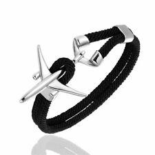 Airplane Anchor Rope Bracelet Unisex Traveler Jewelry Sports Charm Bracelets