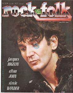 Magazine Rock & Folk # 209 higelin elton john stevie wonder the cure nena