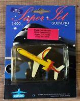 Vintage 1993 Schabak Sunset Air Airlines Boeing 727-200 1:600 Die Cast Model