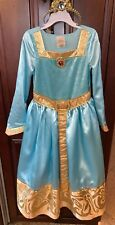 Disney Store Princess Merida Tiara BraveFormal Dress Sz S 5/6Light Blue And Gold