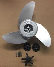 "MotorGuide aluminum trolling motor prop 3 Blade Machete 3.5"" hub"