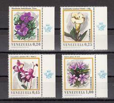 TIMBRE STAMP  4 VENEZUELA Y&T#806-09 FLEUR FLOWER  NEUF**/MNH-MINT 1970 ~B47