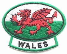 Wales Welsh Dragon Embroidered Patch - Sew on or Iron on