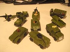 SUPER AWSOME RARE lot of vintage matchbox army vehicles ALL IMPORTED 1970'S