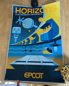 Epcot HORIZONS Serigraph Poster - Limited Edition  #87/200 Disney